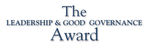 The Leadership & Good Governance Award